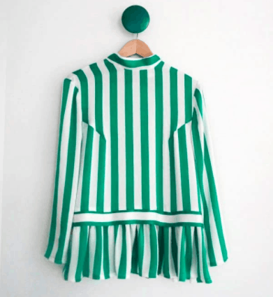 Candyfrill, green and white stripes