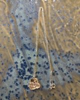 Melted necklace silver