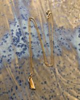 Ovoid necklace gold plated