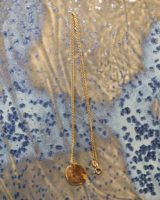 Melted necklace gold plated