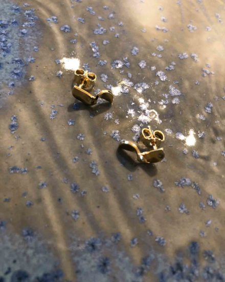Small Fold earrings Gold Plated