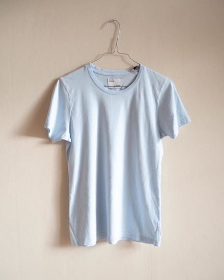 woman light organic tee polar blue