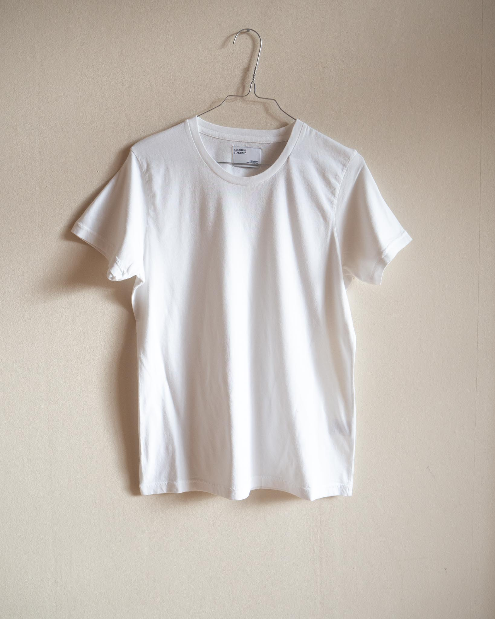 Women light organic tee – optical white