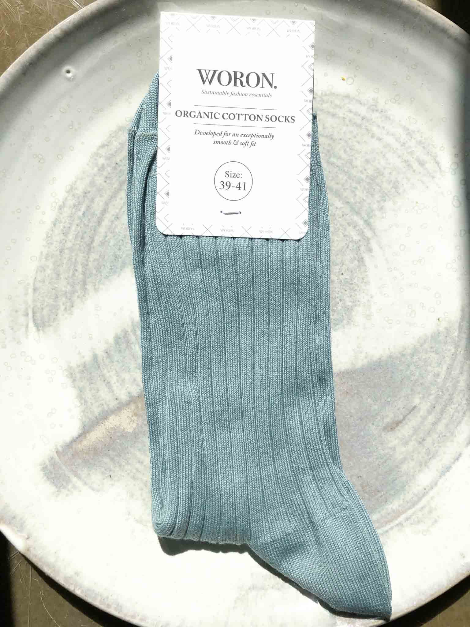 Organic cotton socks – aqua green