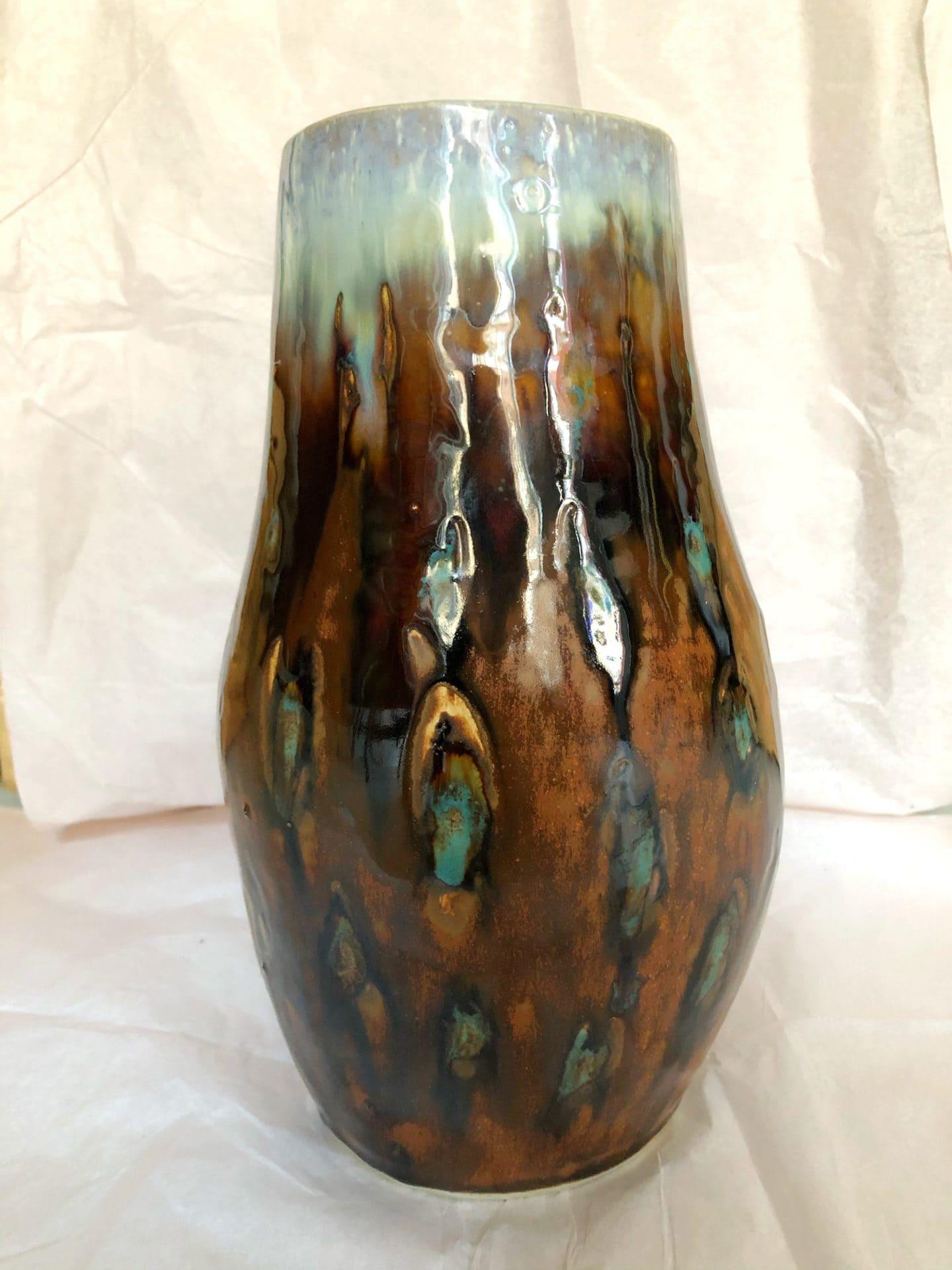 Vase – brun/blå  1