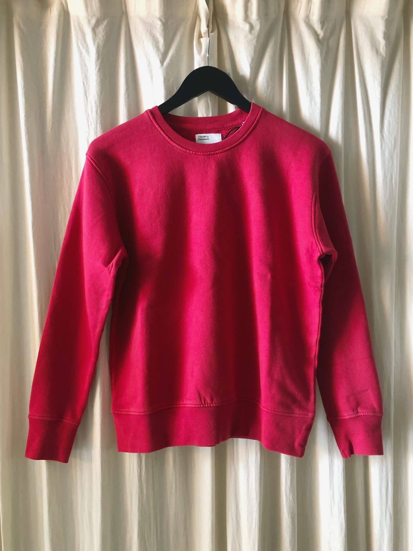 Women classic organic crew – scarlet red