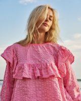 Pink striped sun shirt