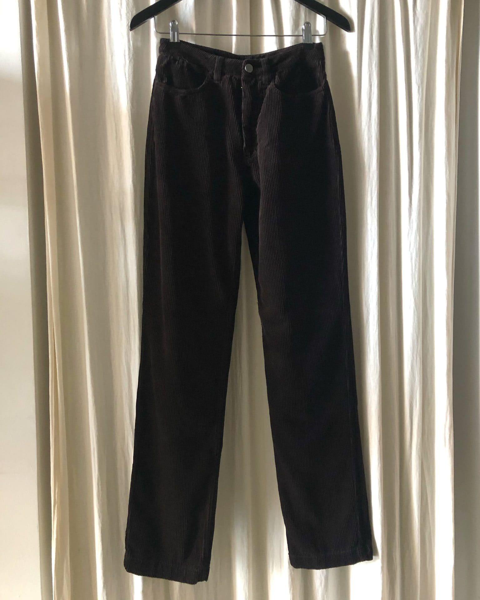 Kay – high waist organic cotton corduroy trousers