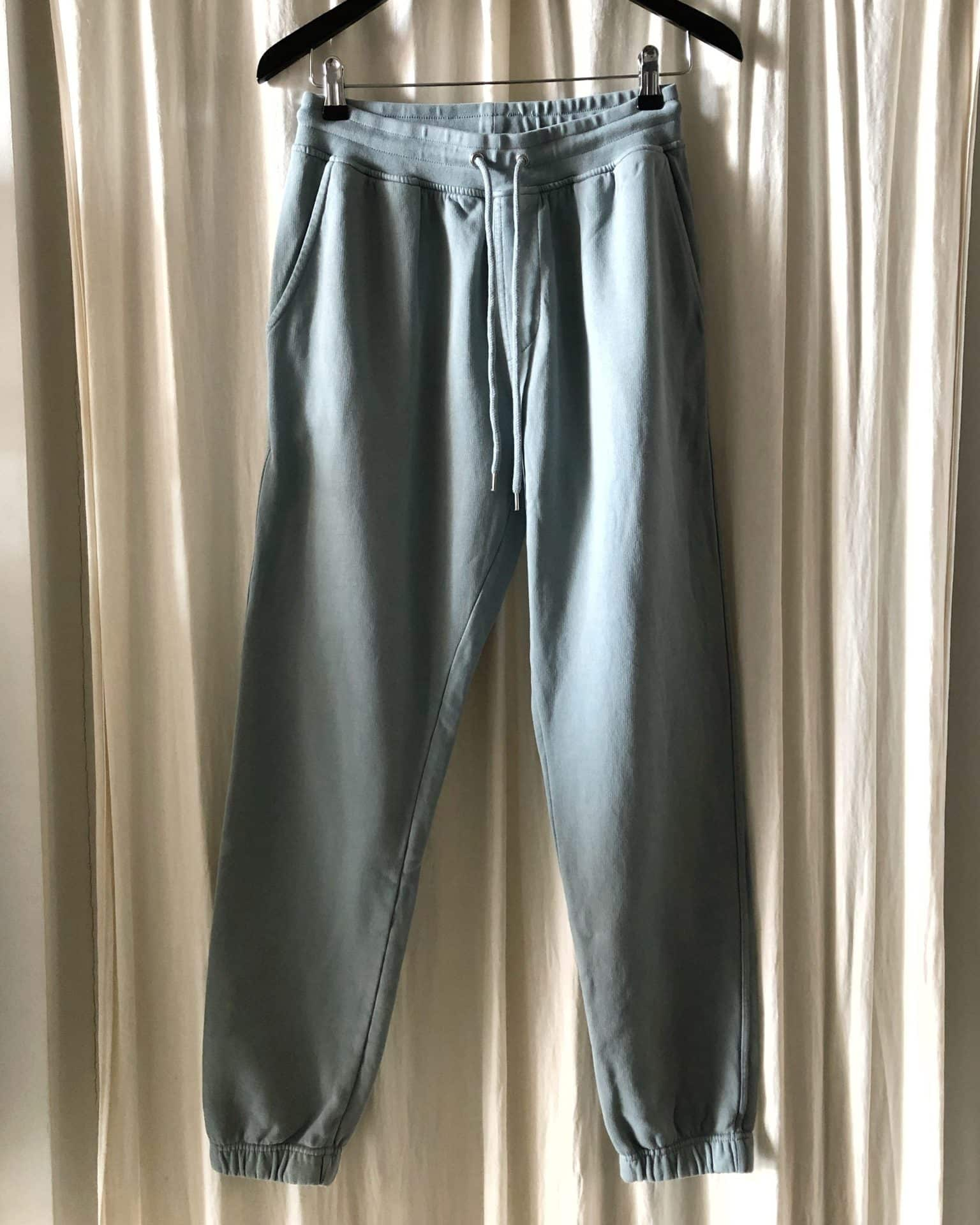Classic organic sweatpants steel blue