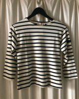 Berton striped blouse ecru and drak navy