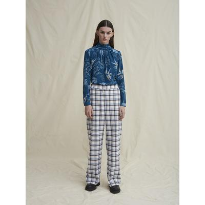 Pinda pants organic cotton white checkered