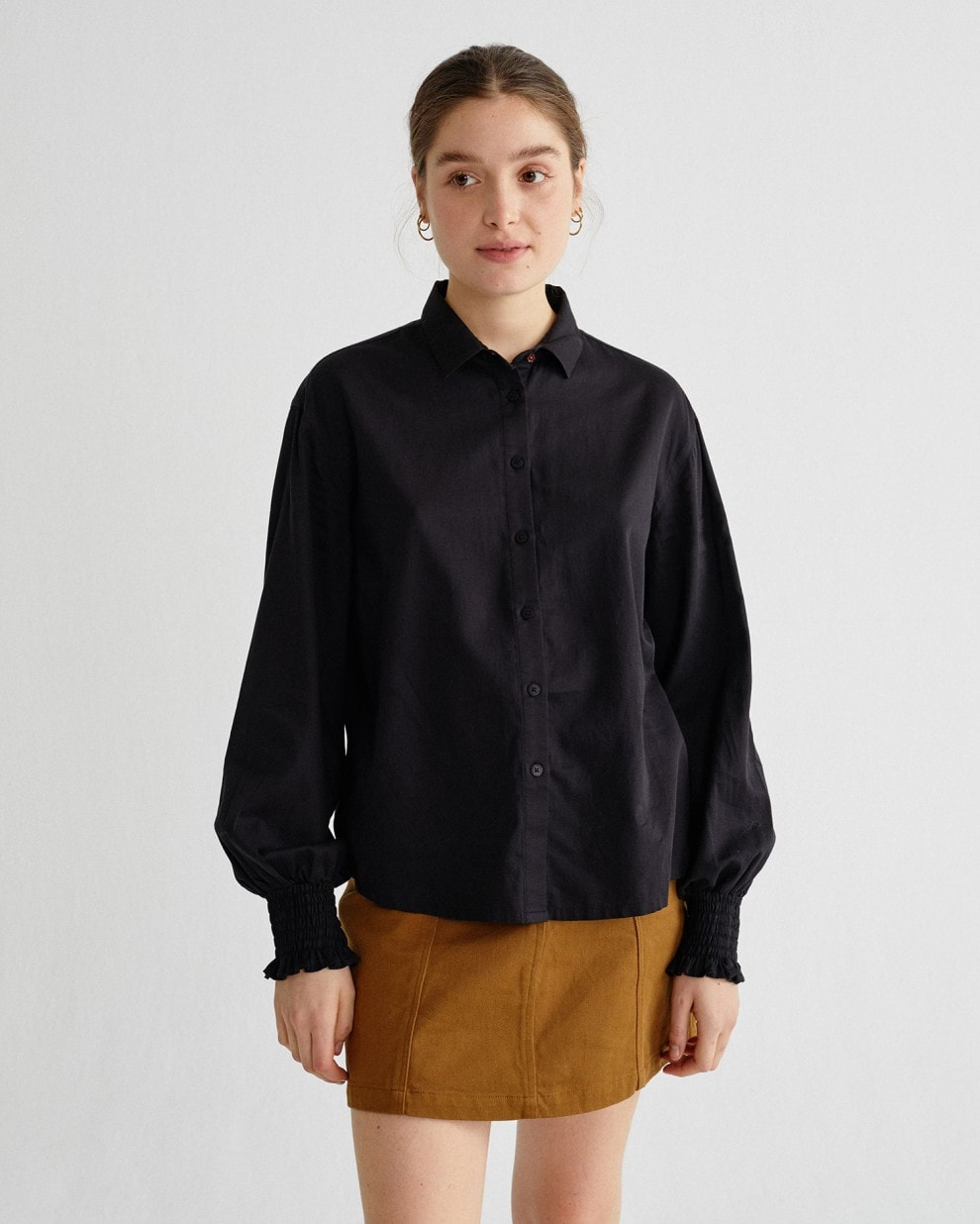BLACK CERES BLOUSE thinking mu økologisk bomuld