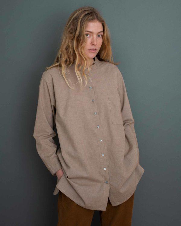 Maxi skjorte i økologisk bomuld serendipity