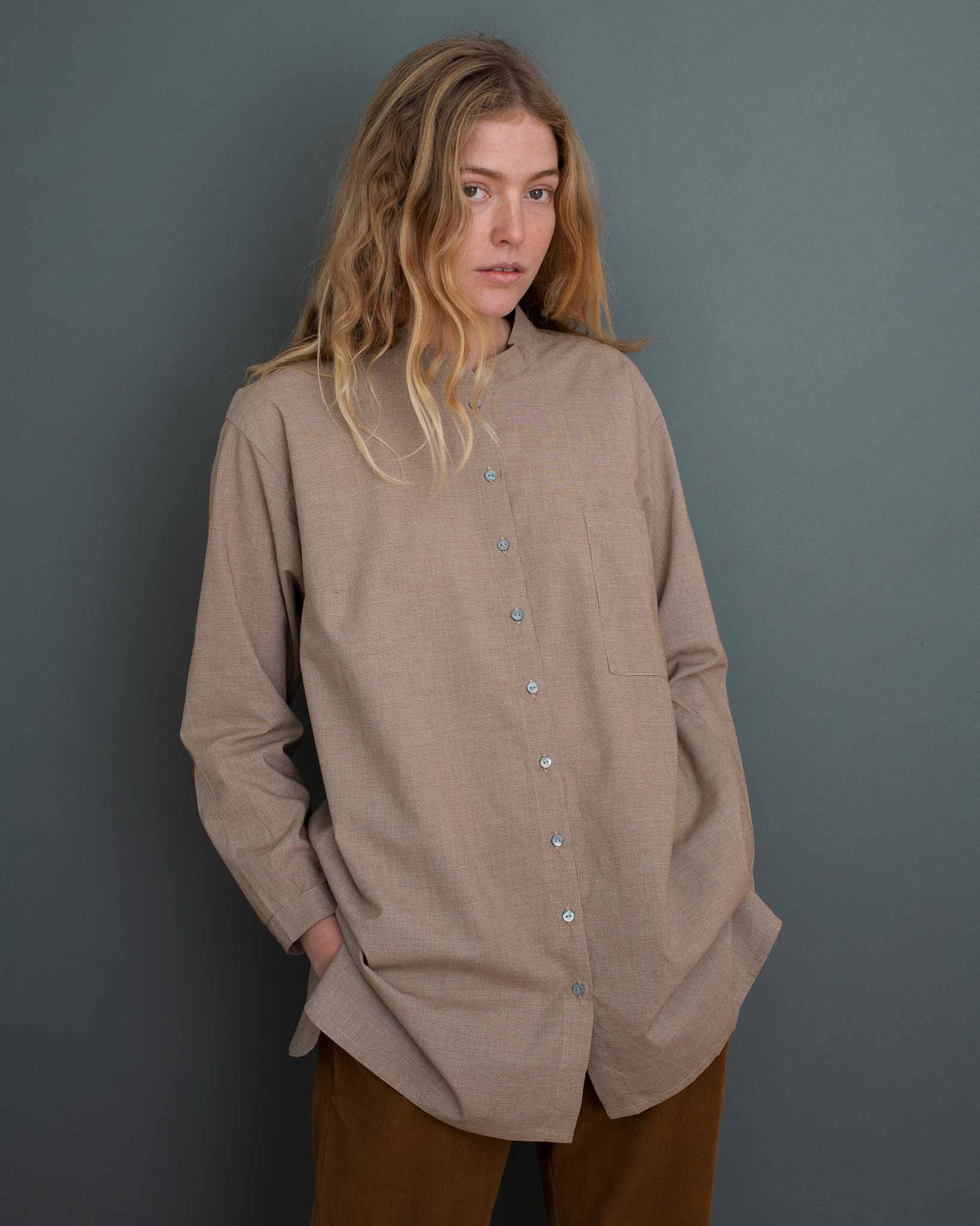 Maxi skjorte i økologisk bomuld