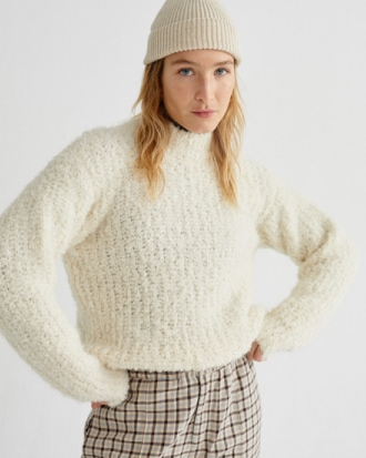 WHITE TRASH COTYS SWEATER alpaka genanvendt sweater thinking mu