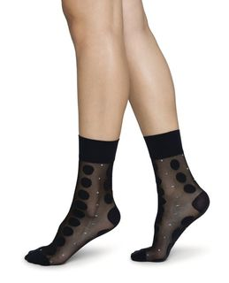 Viola Dot Socks Black