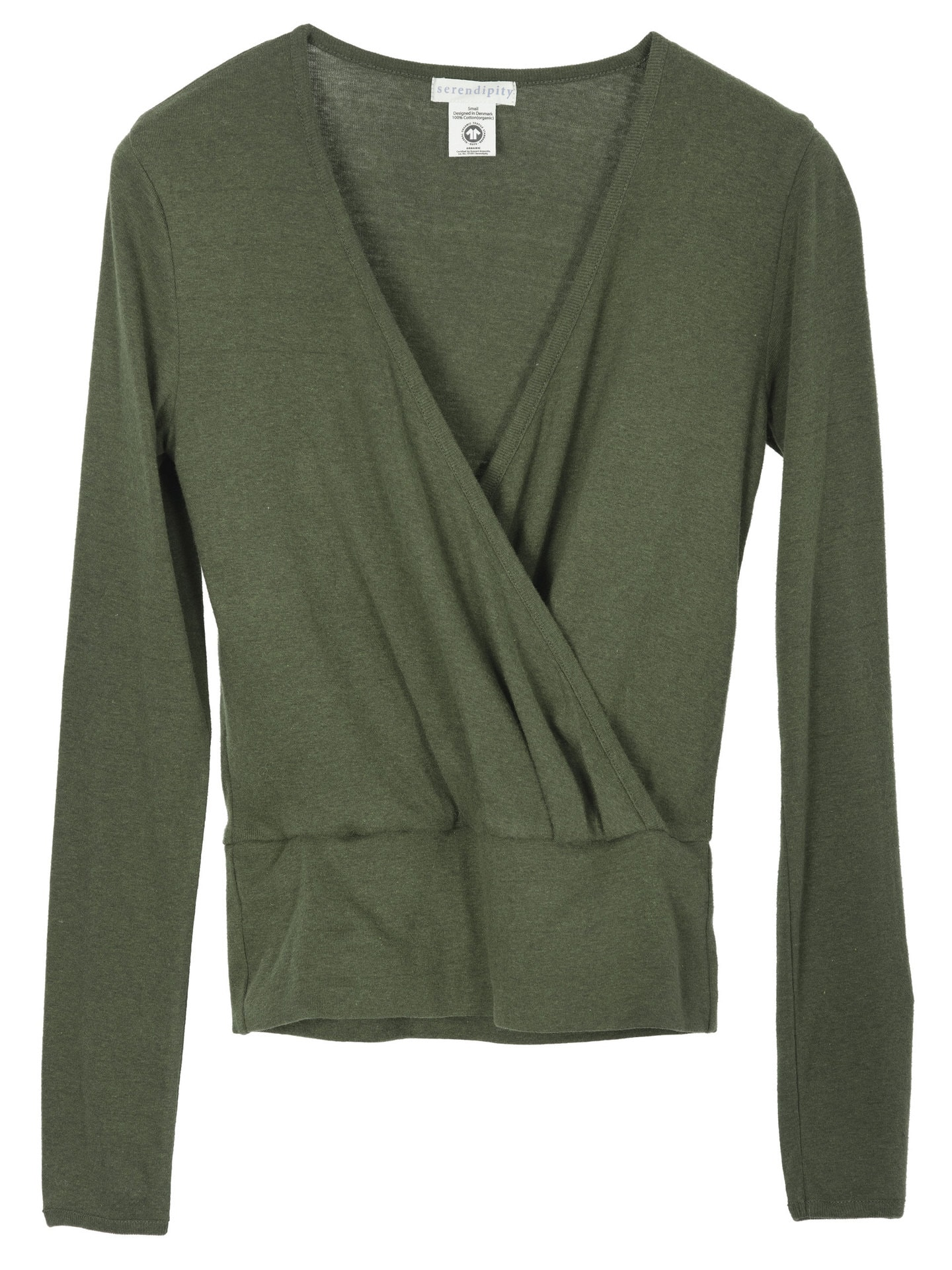 wrap bluse grøn