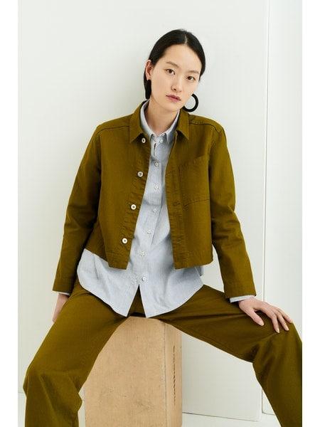 Direction jacket olive denim kowtow