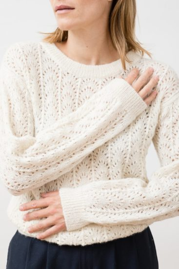 KNIT ABANICO SWEATER IVORY jungle folk