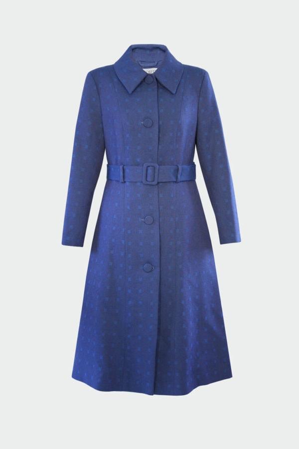 lene coat blue fjord ruby