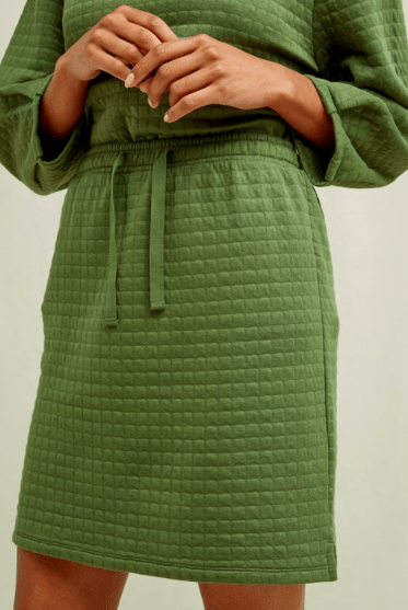 Lia Quilted Skirt In Khaki