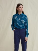 Silas silk shirt blouse leaf
