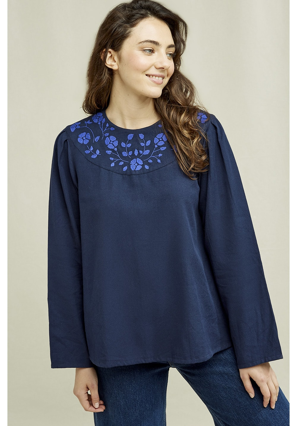 Keva Embroidered Top