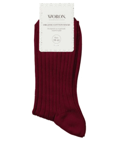 Organic cotton socks – red red wine