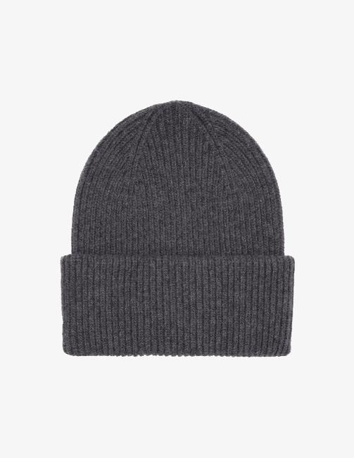 Merino wool hat – lava grey