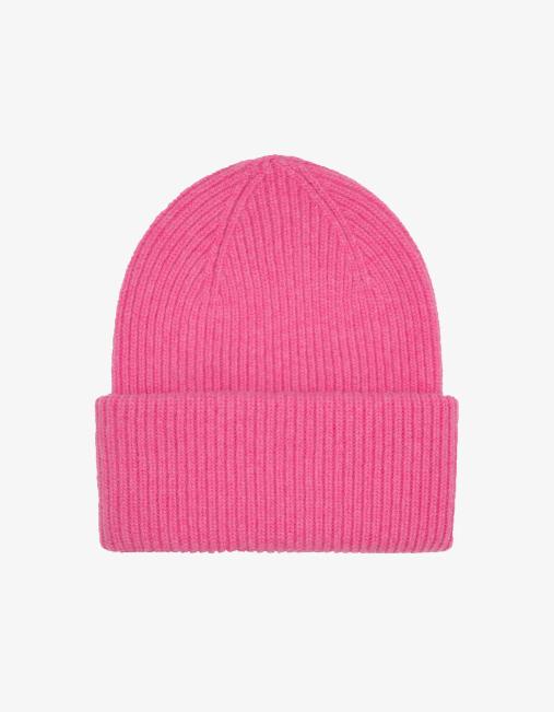 Merino wool hat – bubblegum pink