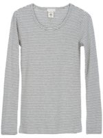 bluse i økologisk grey/Offwhite