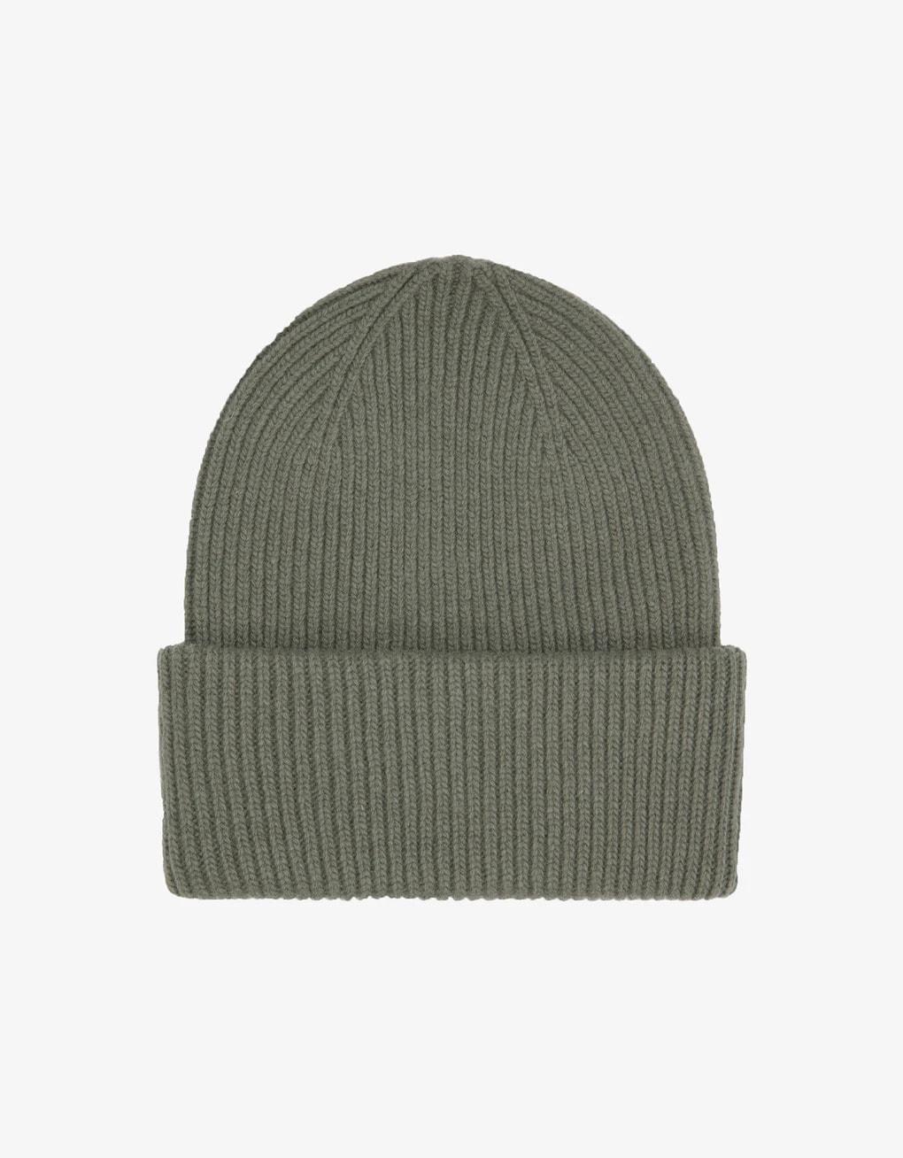 Merino wool hat – dusty olive