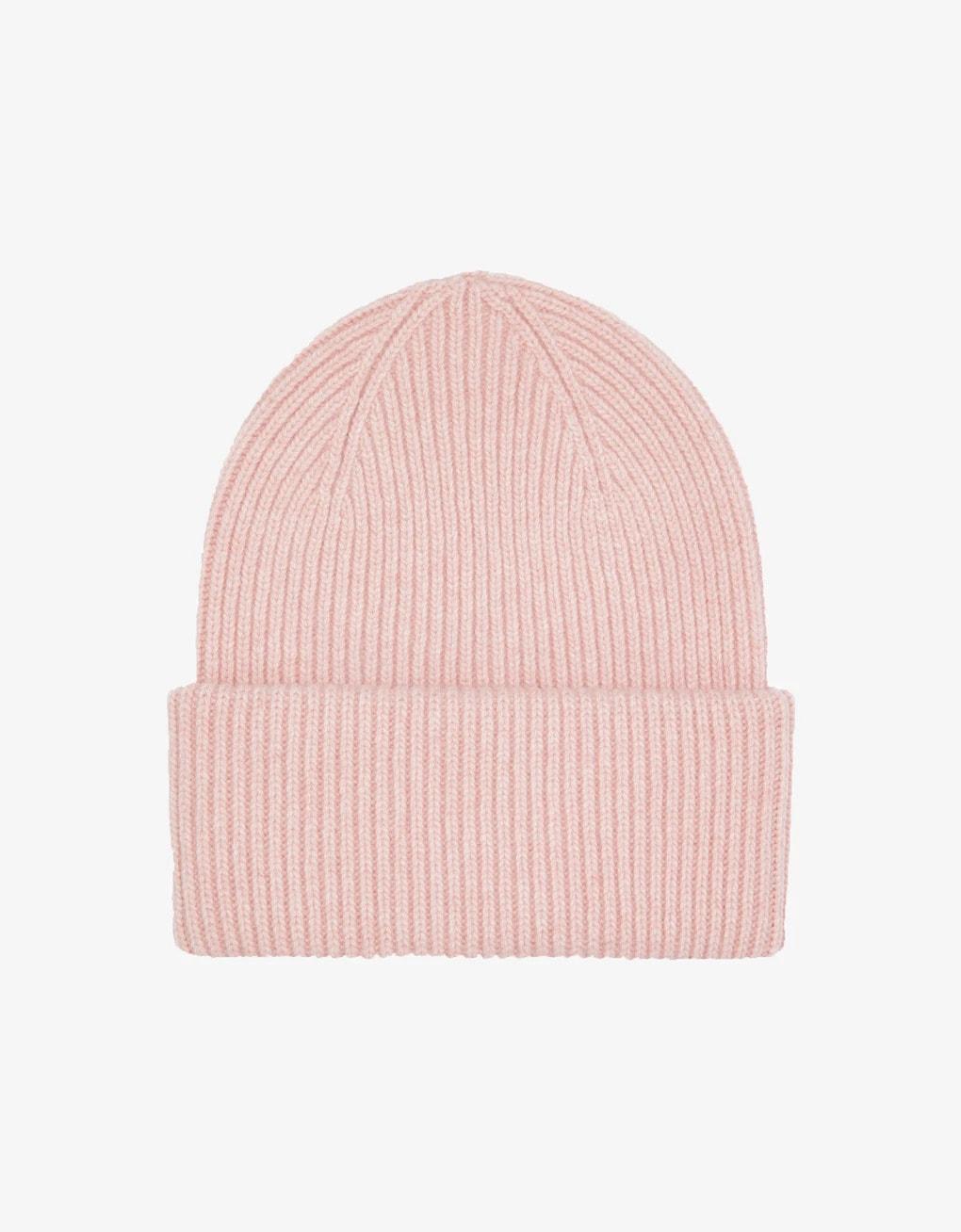 Merino wool hat – faded pink