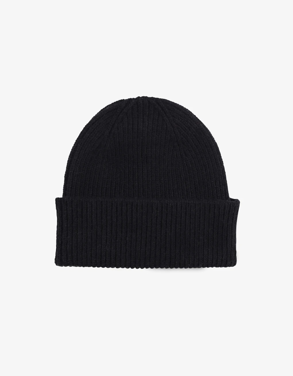Merino wool beanie – black