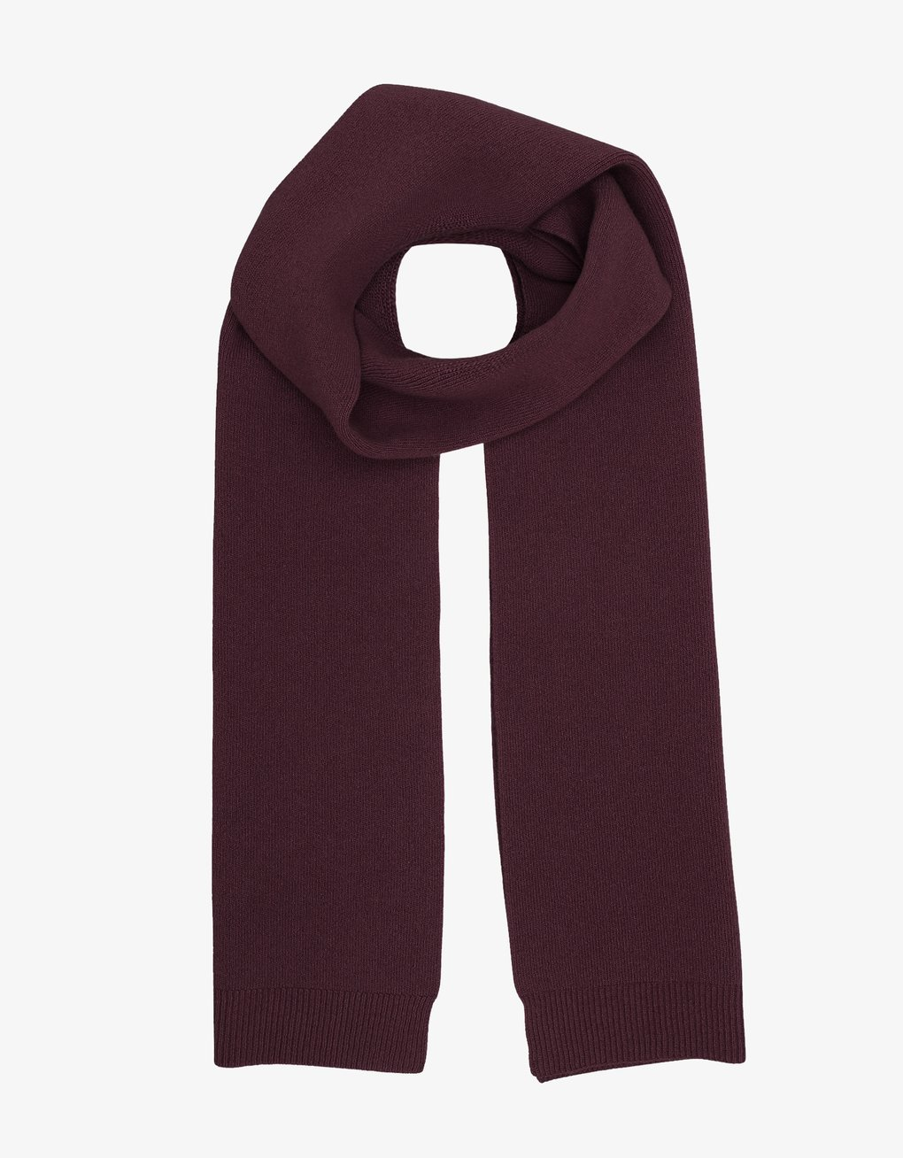 Merino wool scarf – Oxblood red