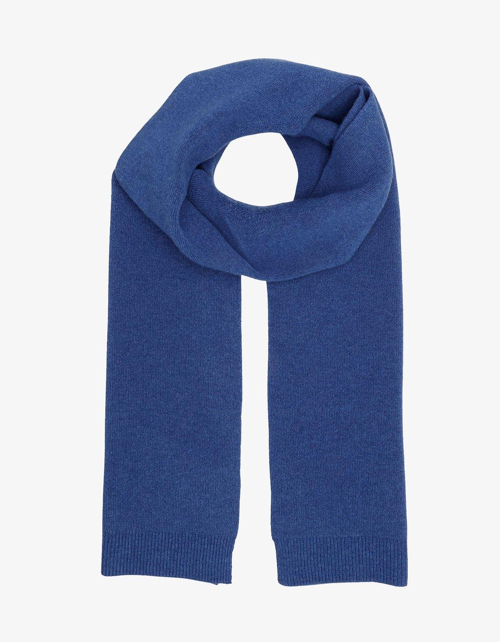 Merino wool scarf – Royal blue
