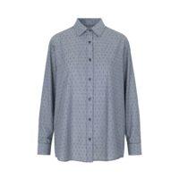 Sanne oversize skjorte blue dot