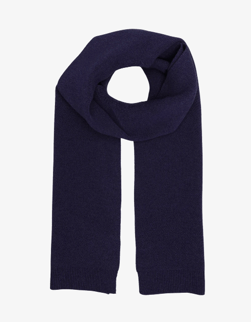 Merino wool scarf – Navy blue