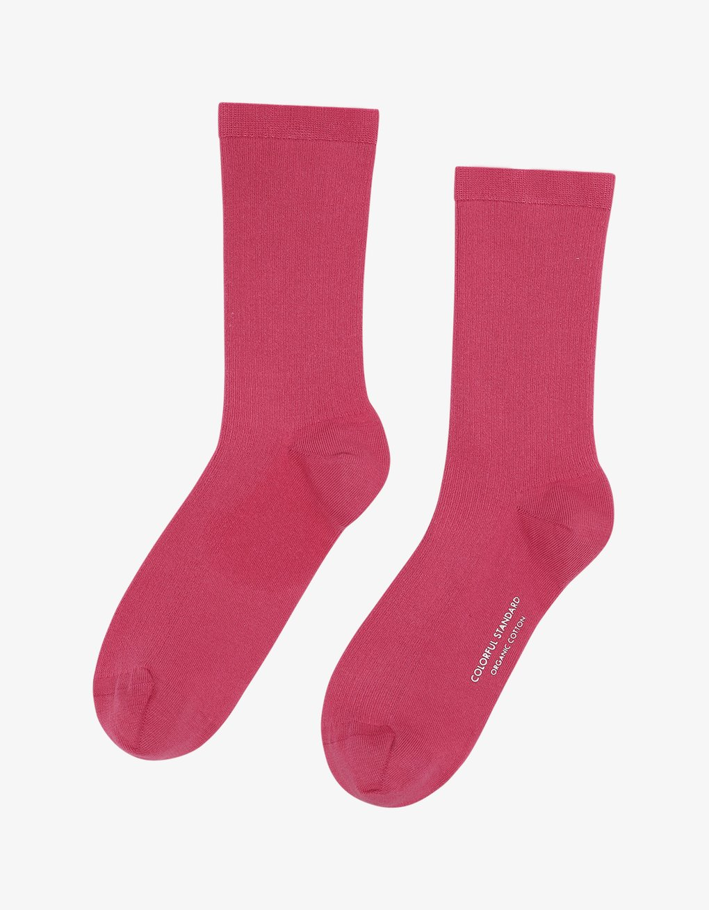 Woman classic organic sock – raspberry pink