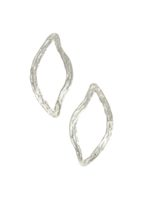 Oh my darling double wave silver earring