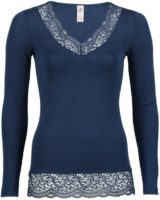 Shirt long sleeved with lace