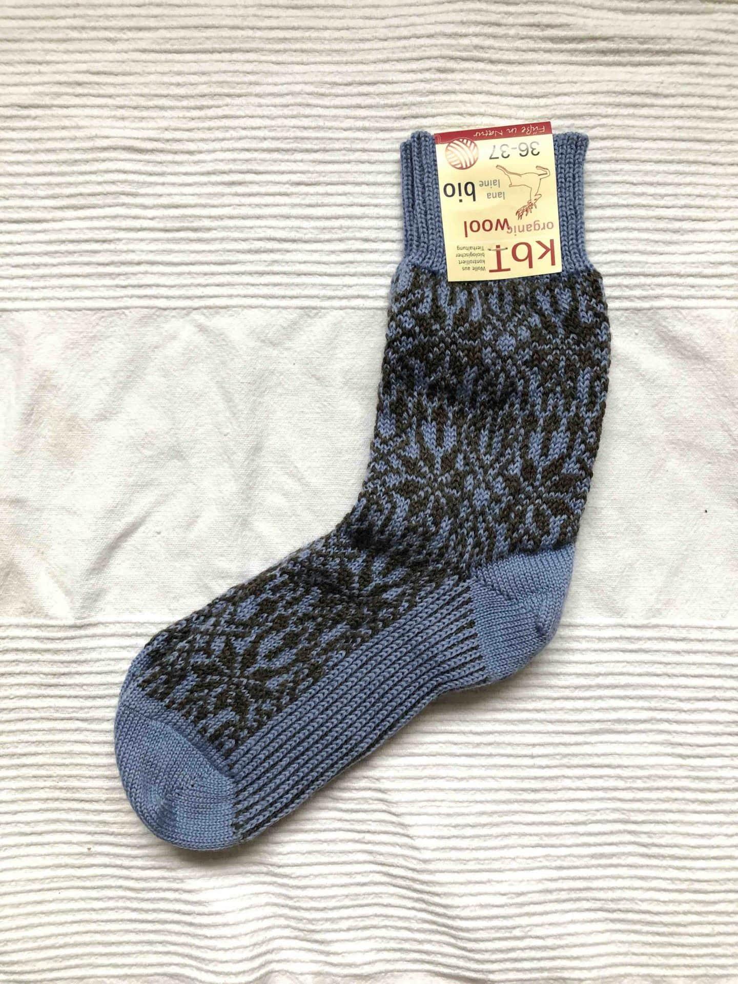 Wool socks brown/blue