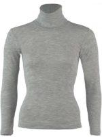 polo neck long sleeve grey