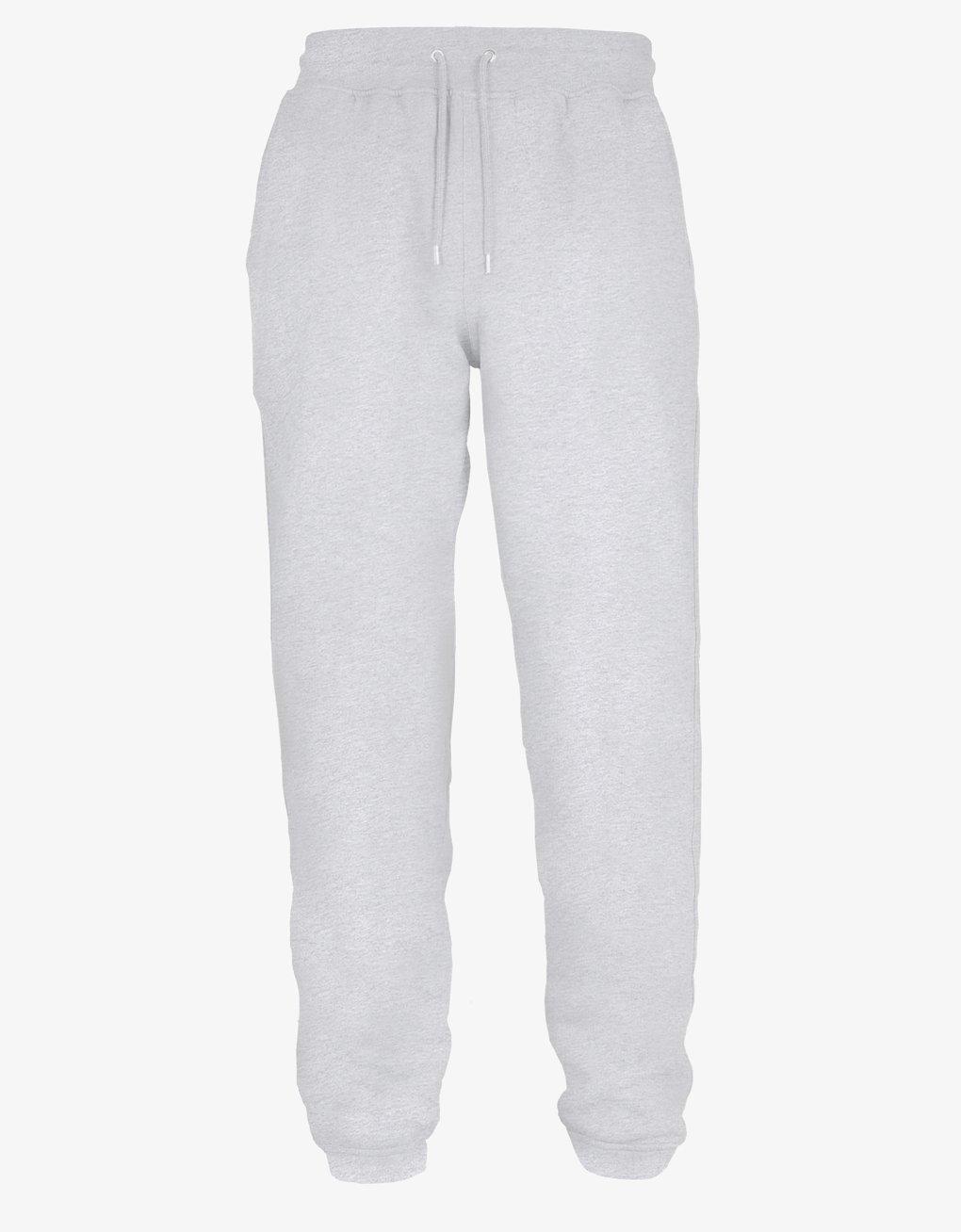 Classic organic sweatpants – Snow melange