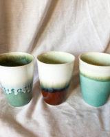 keramik krus – grøn og brun