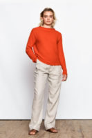 Angela Ribbed Sweater Vermillion red
