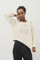 Lyra Tape Yarn Sweater – Off White