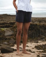 Gilma Organic Cotton Shorts In Navy
